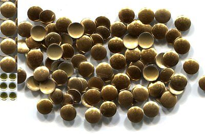 ROUND Smooth Nailheads   3mm Hot Fix GOLD color  144Pc 1 gross