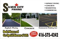 Asphalt paving,concrete,commercial parking lot and residential