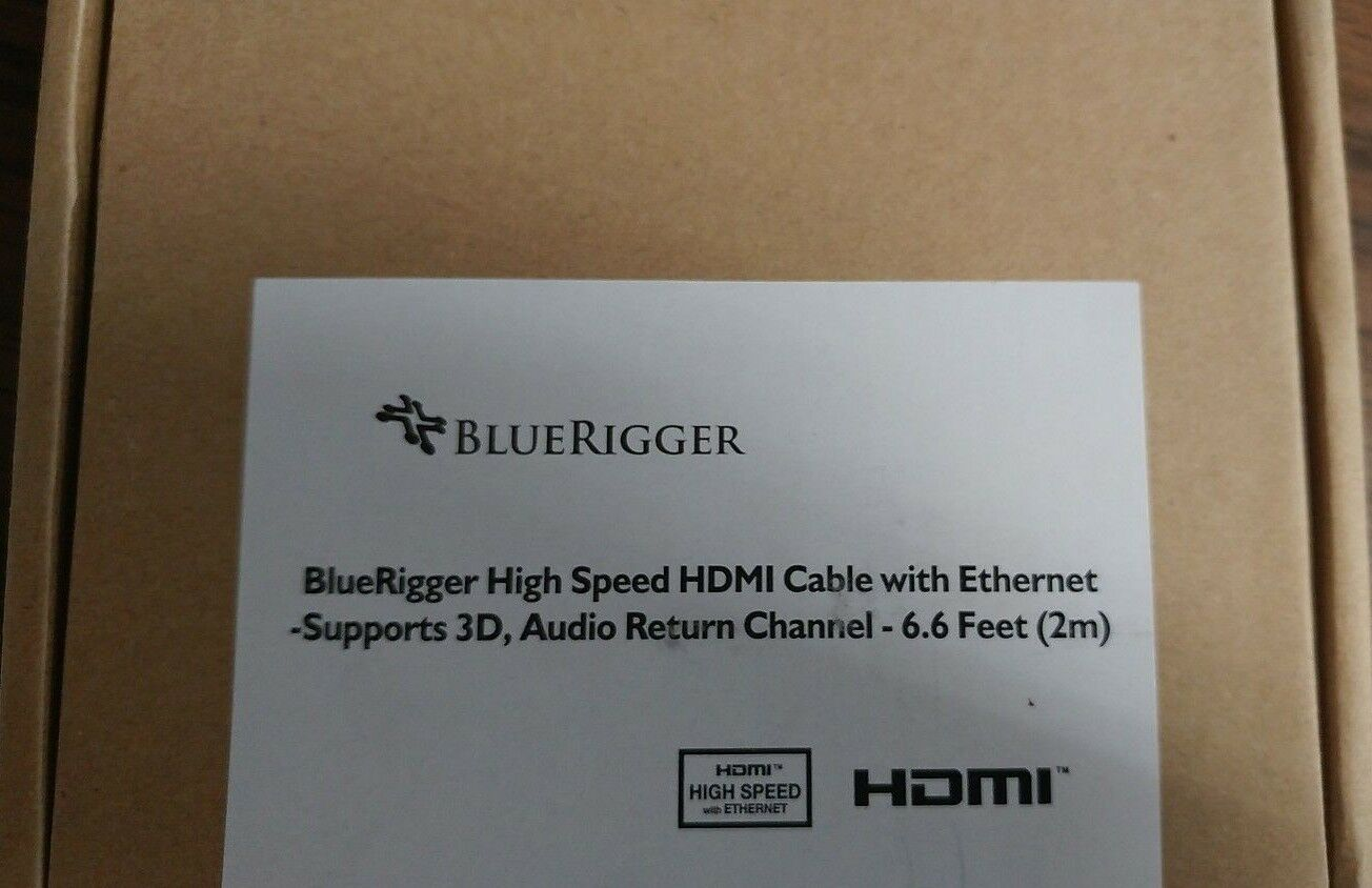Bluerigger High Speed HDMI cable with Ethernet 6.6ft