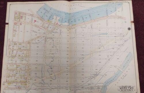 1915 UPDATE TO 1919 CORONA FLUSHING QUEENS FUTURE HOME OF SHEA STADIUM ATLAS MAP
