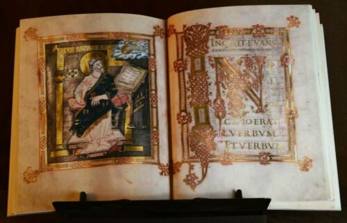 GOSPELS OF LUKE AND JOHN, 875 AD, Facsimile