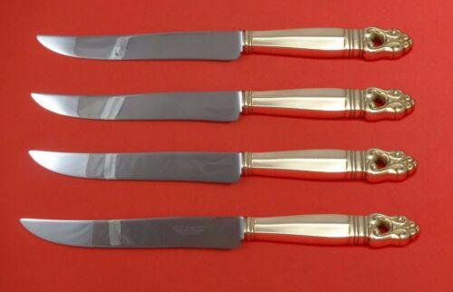 Royal Danish by International Sterling Silver Steak Knife Set Texas Sized Custom