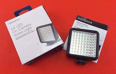 Used Insignia 64 Led On Camera Video Light Black NS-DVL64C1 #64ledl