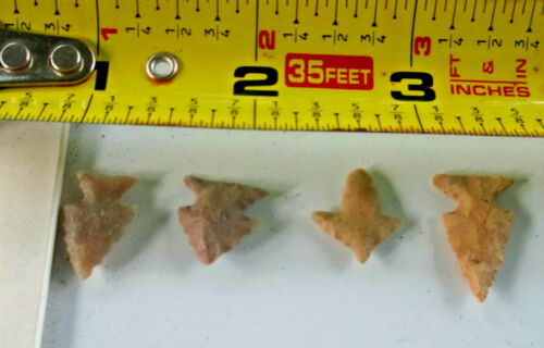 #2000 Lot of 4 Artifacts,4 Birdpoints,Texas, Found  by West Family. Polk Co.Tx.