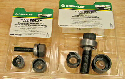 Greenlee Slug Buster Round Punch Set Sizes 12 And 34