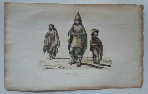 Louis Choris 1822 Population of Chili, Chile, Araucanos