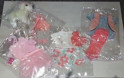 For American Girl Dolls-Multiple Outfits + Dog By Pzas Toys NEW Great Gift