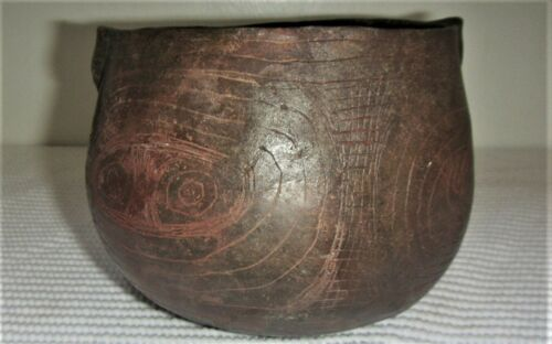 Haley Engraved Bowl Ancient Native American Caddo Indian Pottery w/COA Rare Type