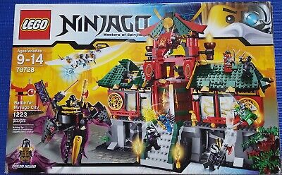LEGO 70728 Ninjago Battle For Ninjago City open box sealed bags complete
