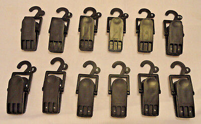 12-count Retail Store Shoe Display Plastic Hanging Clamp Clip Hooks Free Ship