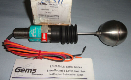 GEMS 30290 Liquid Level Switch Side Mount LS-2050 NEW
