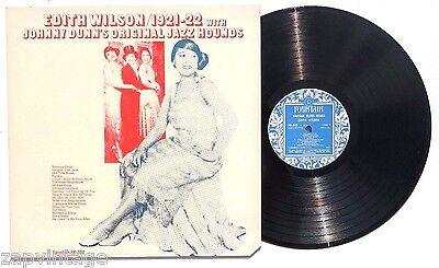 Edith Wilson 1921-1922 Johnny Dunn's Original Jazz Hounds LP FOUNTAIN RECORDS NM