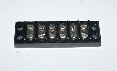 Lot Of 10 6 Position Kulka 410 Terminal Block