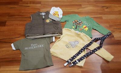 Kleider-Set für Jungen, Größe 68/74, Pullover, warme Steppweste, Hosenträger,... ()