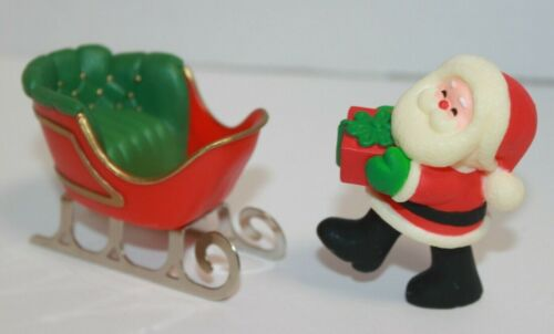 1980 Hallmark Merry Miniatures Santa & Sleigh Christmas Figures
