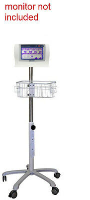 Rolling Stand For Nonin Lifesense Respsense  Patient Monitor Small Wheel