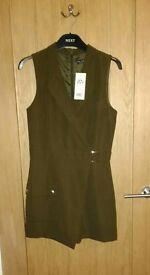 Miss Selfridge khaki sleeveless jumpsuit, S10