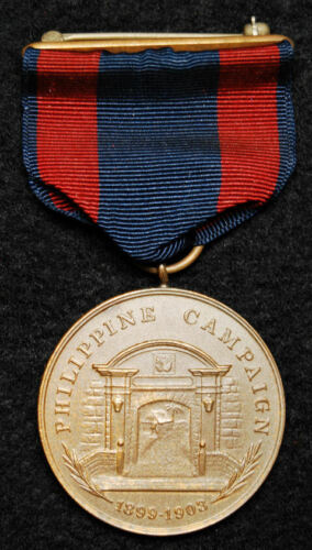 Original Navy 1899-1903 Philippine Campaign Medal 1944 Mint Contract Wrap Broach