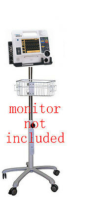 Rolling Roll Stand For Physio Control Meditronics Lifepak 12 Small Wheel