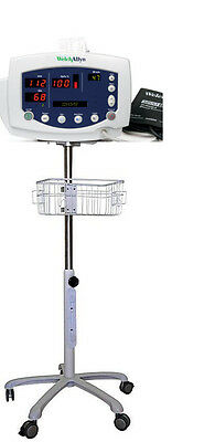 Rolling Stand For Welch Allyn 53000 Vital Sign Monitor New Small Wheel
