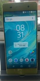 SONY XPERIA XA GOLD 16GB LOCKED TO O2