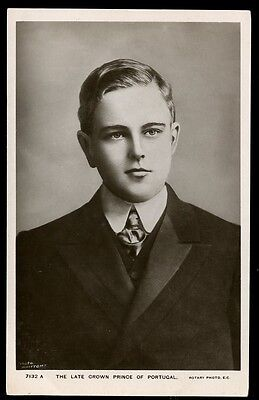 Royalty PORTUGAL The Late Crown Prince killed 1908 RP PPC