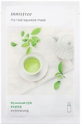 Innisfree Green Tea It's Real Squeeze Sheet Face Mask Pack M