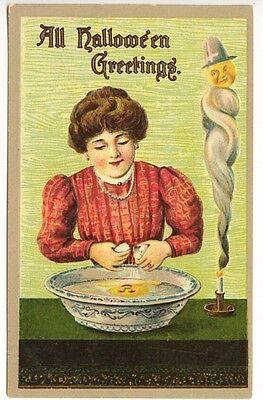 rze Spirit Eier Reflektierend Kürbis Geprägt Postkarte (Halloween-grüße)