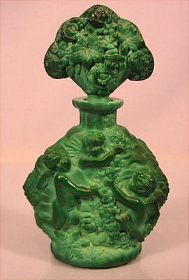 Alter Parfum Flacon Glas Schlevogt Böhmen um 1920
