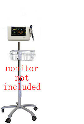Rolling Roll Stand For Spacelabs Dm3 Vital Sign Monitor New Small Wheel