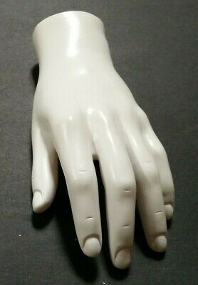 Mn-handsm-wf White Left Male Mannequin Hand Jewelry Display White Only