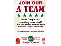 John Dorys - Now recruiting in Belfast, Carryduff and Lisburn