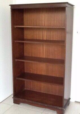 Antique Reproduction Mahogany 5 shelf Bookcase