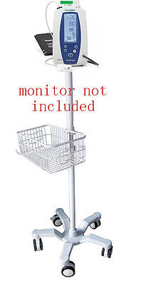 Rolling Stand For Welch-allyn Spot 420 Vital Sign Monitor New 301- Big Wheel