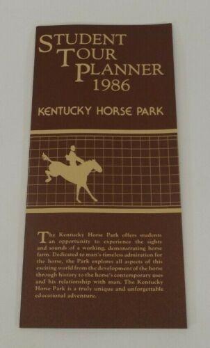 Vtg 1986 Kentucky Horse Park Student Tour Planner Brochure