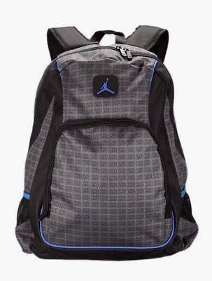 d129700aec24 NWT Jordan Jumpman 23 Backpack Laptop Book Bag Gray black Blue 9A1223-783