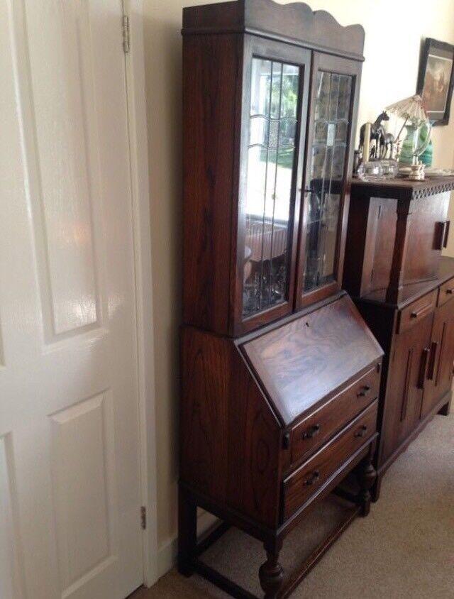 Glass cabinet bureau