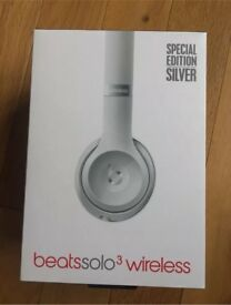 Beats solo wireless special edition silver white