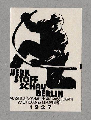 Poster stamp Werkstoffschau 1927 Modernist Graphic Design Bauhaus Typography