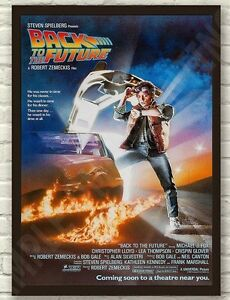 Classic 80's Back To The Future McFly Movie Film Framed Poster Print Picture  A4
