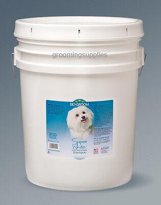 Bio-Groom Super White Dog Pet Shampoo 5 Gal pail w/Pump Item