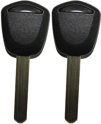 2 NEW FOR ACURA HONDA REPLACEMENT TRANSPONDER CHIPPED UNCUT BLADE KEY BLANK HO03 Honda Replacement Blade