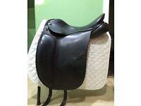 17.5 Medium Fit Black Anky Dressage Saddle