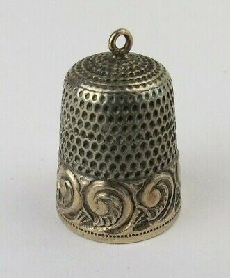 Thimble ~ Vintage Ceramic China Painted Gold Trim~ Monaco