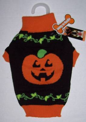 NWT Wag-a-Tude Pumpkin Halloween Sweater for Pets Size Small Dog Cat (A Cat Costume For Halloween)