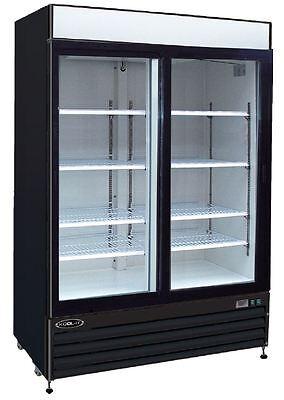 Kool-it Ksm-42 42cf 2 Door Commercial Glass Beer Soda Cooler Refrigerator New