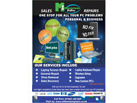 LAPTOP/ DESKTOP PCS - SALES/REPAIRS/SERVICE/SUPPORT - BLACKBURN AND SURROUNDING AREAS