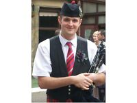 Scottish piper for weddings and events.