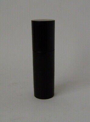 Ebony Turned Cylinder Pin Tidy edwardian /antique fine vanity 4'' long screw top