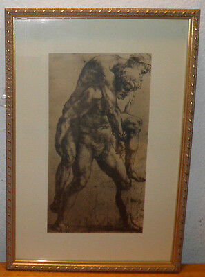 Master Raffaello Sanzio PRINT Young Man Carrying Old Man Framed 10.5x15 $20 OFF
